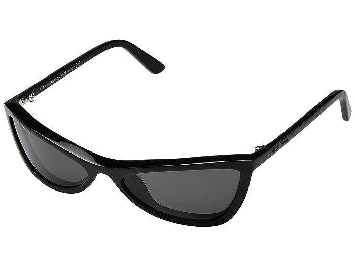 Balenciaga  BA0123 (Shiny Black/Smoke) Fashion Sunglasses