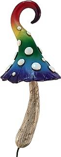 Enchanted Rainbow Miniature Mushroom for a Miniature Fairy Garden or Lawn Gnomes. Gnome- Fairy Garden Accessory