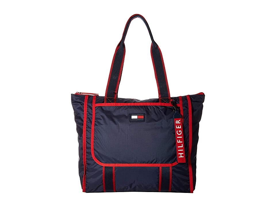 Tommy Hilfiger Crewe Tote (Red/Multi) Handbags