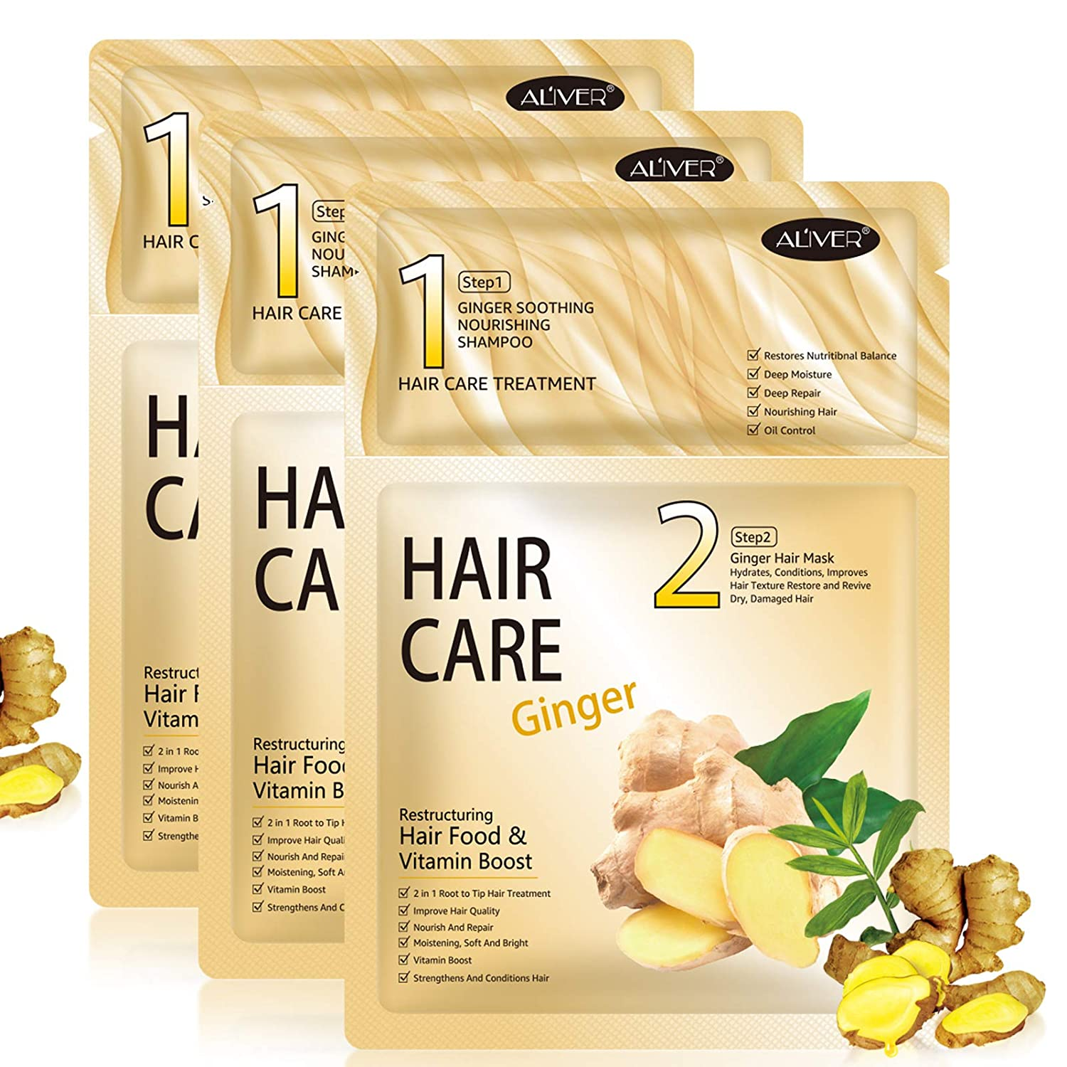 Hair Mask 3 pack, Hair Mask for Dry Damaged Hair, Deep Conditioner Hair Treatment, Hair Masks Care for Curly Oily Frizzy Hair and Dry Scalp: Beauty