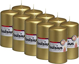 BOLSIUS Tray of Pillar Candles - 32 Long Burning Hours Candle Set - 2.25-inch x4.75-inch Dripless Candle - Perfect for Wed...