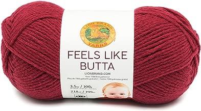 Lion Brand Yarn 215-138 Feels Like Butta Yarn, Cranberry
