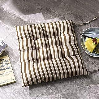 Actoor 6 Piezas Cuadrado Rayas CojíN, Desenfundable Transpirable CojíN para Silla Oficina Silla Ruedas Asiento CojíN de Silla Comedor(40cm × 40cm × 8cm)