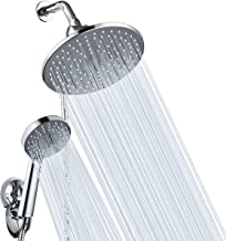 "Shower Head Combo, Baban 9"" Adjustable High Pressure Rainfall Showerhead & 5 Settings Handheld Shower Head Combo with Strong Suction Cup Holder/ 3-Way Water Diverter/ 1.5M Stainless Steel Hose"