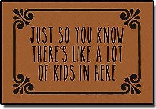 Best A Lot of Kids in Here Doormat, Funny Door Mat Entrance Floor Mat Funny Doormat Indoor/Outdoor/Kitchen Decorative Non-Slip Doormat 23.6 x15.7 Inch Review