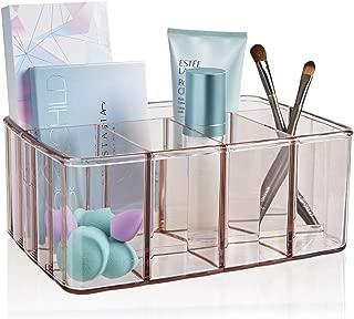 STORi Plastic Vanity Organizer   5-Compartments   Auburn Mist