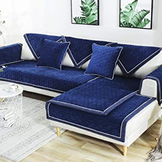 TEWENE Couch Cover Sofa Cover Couch Covers Sectional Couch Covers Washable Sofa Slipcover for Dogs Cats Pet Love Seat Recliner Blue Sold by Piece//Not All Set