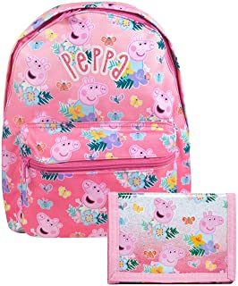 Peppa Pig All Over Print Backpack and Wallet Gift Bundle