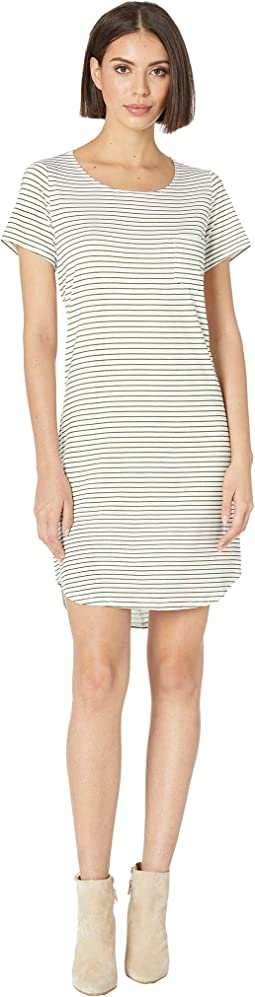 Stripe Jersey T-Shirt Dress with Pocket