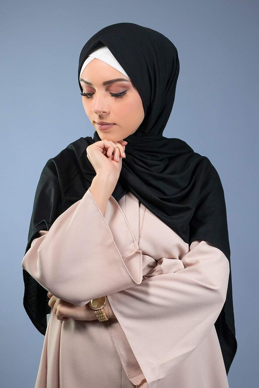 Hijab maxi jersey /élastique ch/âle femme musulmane voil/ée hijab islamique 200X80 CM