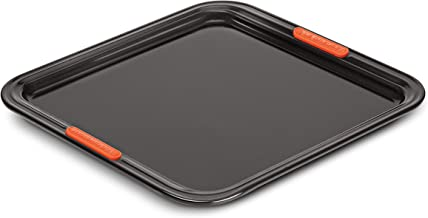 LE CREUSET 94100637000000 Toughened Non-Stick Bakeware Rectangular Baking Sheet, 31 cm Carbon