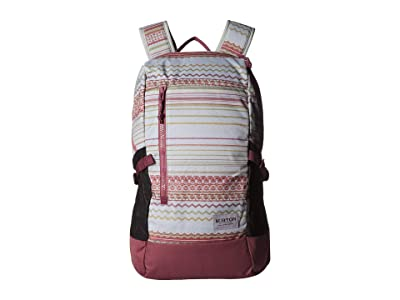 Burton Prospect 2.0 Backpack (Aqua Gray Revel Stripe Print) Backpack Bags