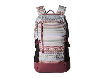 Burton Prospect 2.0 Backpack (Aqua Gray Revel Stripe Print) Backpack Bags