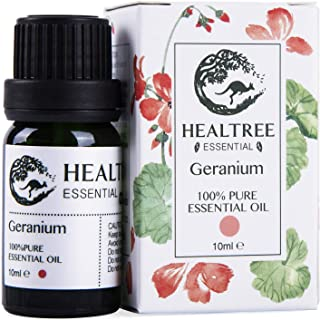 HEALTREE Geranium Essential Oil - 100% Pure & Natural Essential Oils | Perfect for Skin Care, Bath, Aroma Diffuser, Humidi...