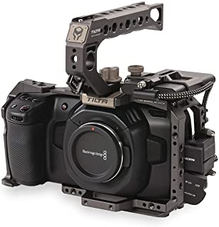 Photo Studio Accessories - TA-T01-B-G Full Camera Cage SSD Drive Holder Top Handle Grip for BMPCC 4K Blackmagic Pocket Cin...