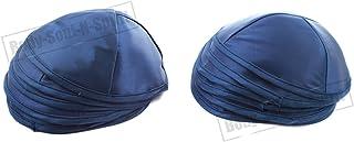10 Blauwe Satijn Kippah Yarmulke Tribal Joodse Yamaka Kippa Israel Hoed Covering Cap