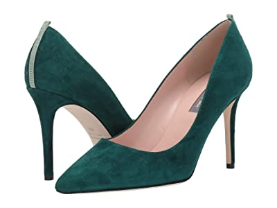 SJP by Sarah Jessica Parker Fawn 90mm (Dark Green Suede) Women