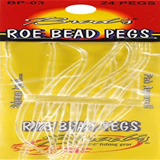 Brad's Killer Fishing Gear Clear 24ct Roe Bead Peg, Clear