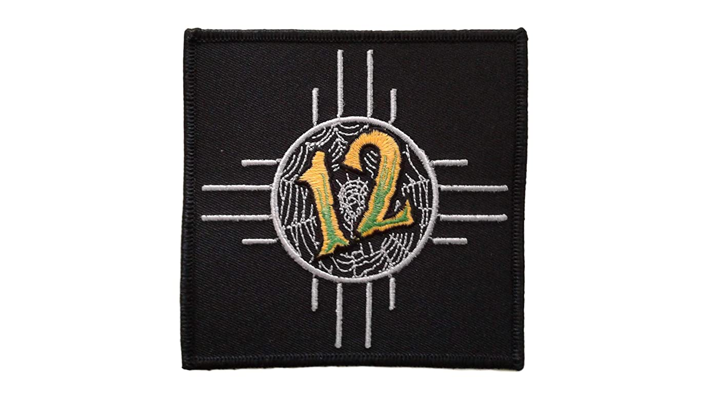 Licensed 12 Step Rebels Iron On Patch Scrapbooking Applique Motif Rock Band Punk Metal 4 x 4 inches (10 x 10 cm)