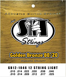 SIT Strings S.I.T. Stay in Tune GB121046 Light 80/20 Bronze Acoustic Guitar 12-String