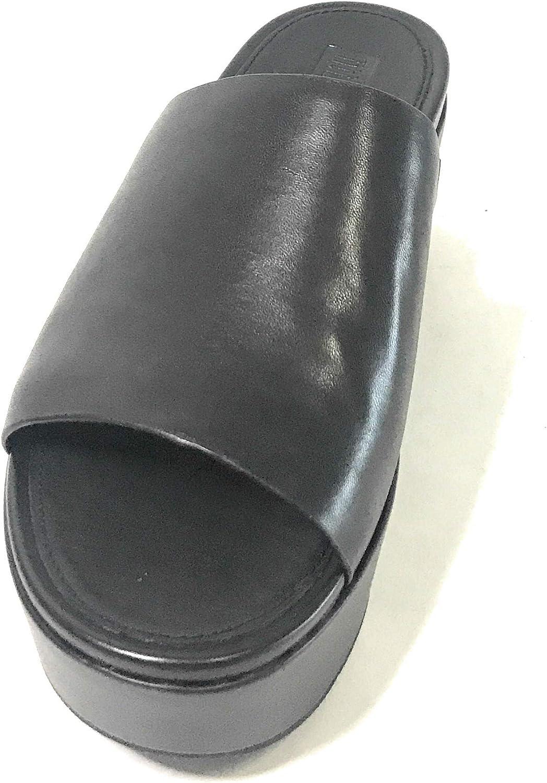 Fitflop Women's Eloise Leather Wedges Slide Sandal All Black