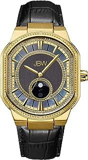 JBW Mens Quartz Watch, Analog Display and Leather Strap J6374E