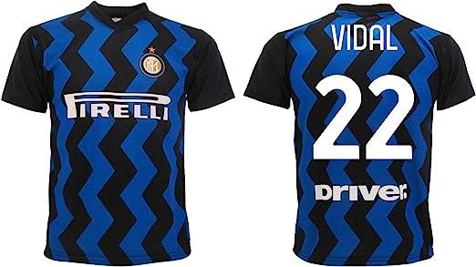 Camiseta Vidal Inter 2021 Home Oficial 2020-2021 Adulto Niño Arturo Negro Azul