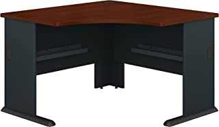 Bush Business Furniture Series A 48W Corner Desk in Hansen Cherry and Galaxy