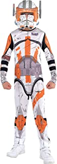 Star Wars Commander Cody Costume for Boys, Size Medium, Includes a White and Orange Jumpsuit and a Mask