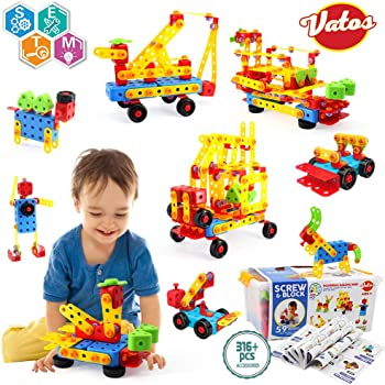 104 PCS Educational Toy Creative Playset for Age 4,5,6,7 Year Old Gifts Auch Flower Building Toy Garden Building Blocks Toy Set for Kids
