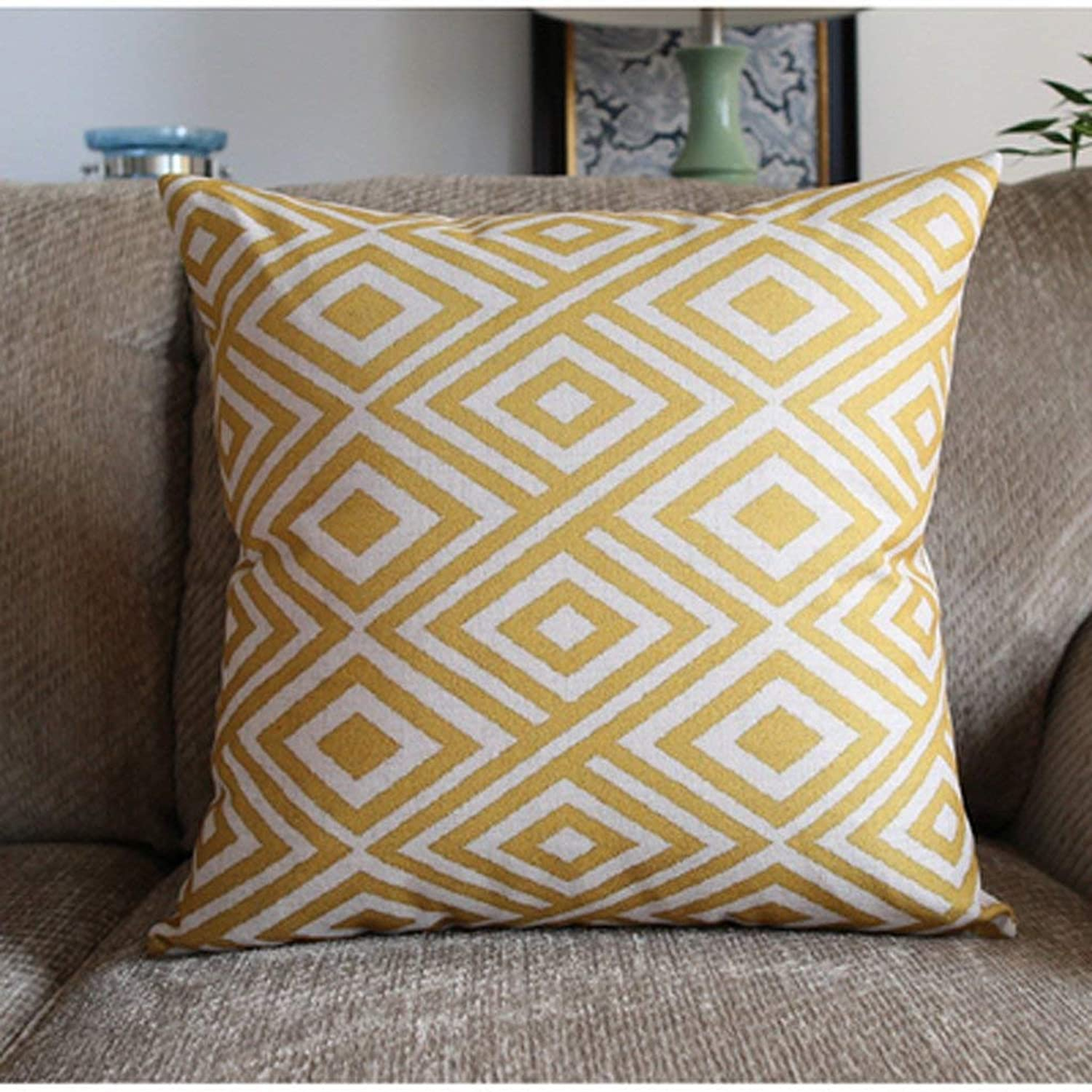 Seat Cushion Classical Geometric Nordic Sofa Pillow Decorated Home Linen Pillow Chair Pad (color   53cm-Without a Core)