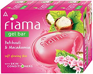 Fiama Gel Bar Patchouli and Macadamia for soft glowing skin, with skin conditioners, 125 g (Pack of 3)