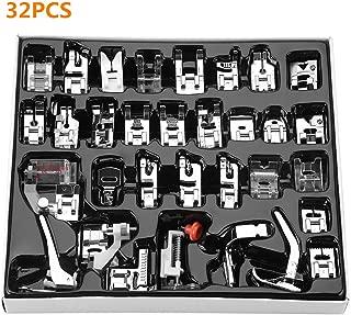 Piezas Prensatelas Accesorios, Piezas de la máquina de Coser 32pcs presiona los Accesorios y el Caso del pie de presión Presser