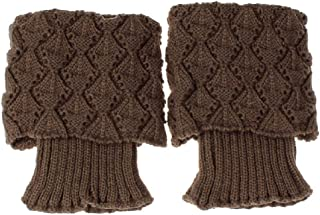 Calcetines, Moda de Las Mujeres de Punto de Ganchillo del Ajuste de Arranque puños de los Primeros de Liner Calentador de la Pierna Calcetines