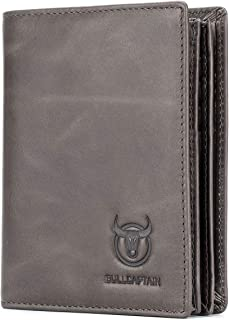 Large Capacity Genuine Leather Bifold Wallet/Credit Card Holder for Men with 15 Card Slots QB-027 (Light Brown)