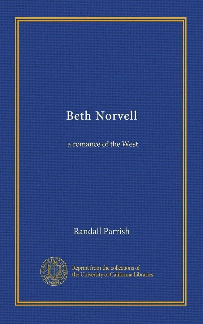人触覚チーフBeth Norvell: a romance of the West