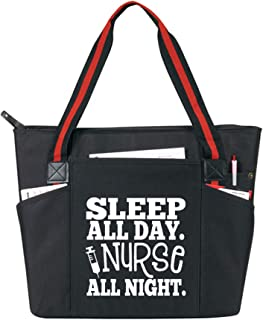 Large Nursing Zippered Tote Bags with Pockets for Nurses - Perfect for Work, Gifts for CNA, RN, Nursing Students