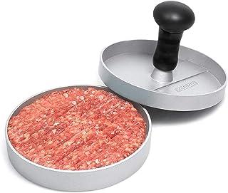 GOURMEO prensa de hamburguesa + 30 hojas de papel antiadhesivo de aluminio con capa antiadhesiva | prensa de hamburguesa, prensador de hamburguesa, burger maker