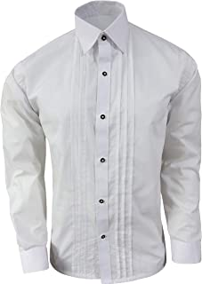 German Bavarian Shirts Trachten Shirts Oktoberfest Shirts Lederhosen Long Sleeve White Cotton Shirt