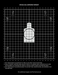 PlusTactical M16A2 25 Meter Zeroing Target On EZ Peel Notepad