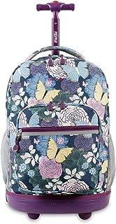 子供用パープル蝶花テーマRollingバックパック、美しい庭花Pretty蝶印刷スーツケース、Girlsスクールバッグ、ダッフルwithホイール、Wheeling Luggage、軽量、ファッショナブルな