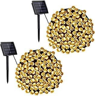 Toodour Solar String Lights, 2 Packs 72ft 200 LED 8 Modes Outdoor String Lights, Waterproof Solar Fairy Lights for Garden,...