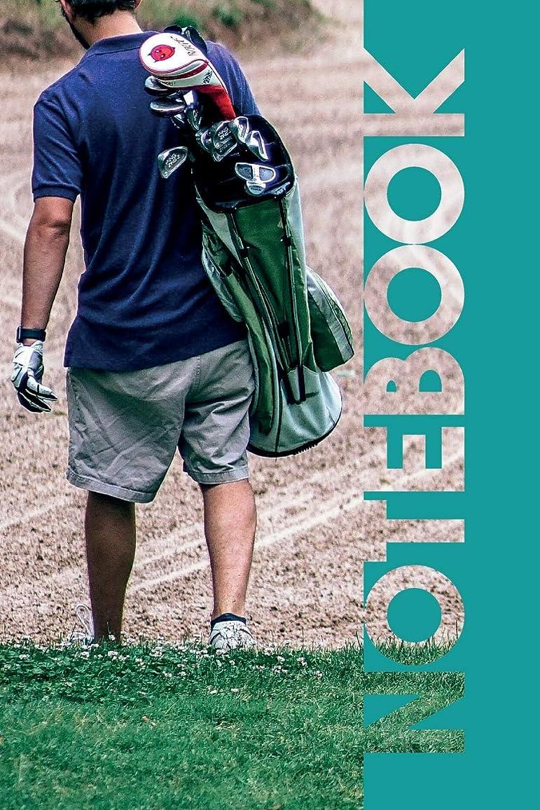金曜日あいにくインスタントNotebook: Golfer Bag Vibrant Compostion Book for Golf Caddy