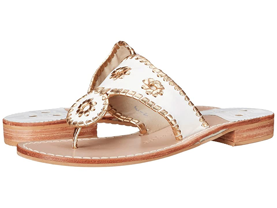 Jack Rogers Nantucket Gold (White/Gold) Women