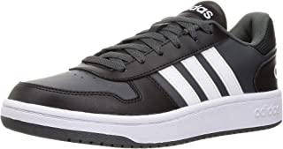 Adidas Hoops 2.0 Side-Stripe Back-Logo Lace-Up Basketball Sneakers for Men