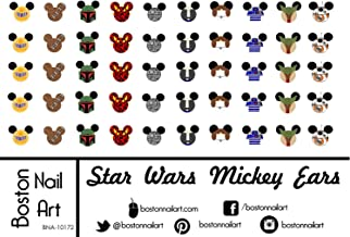 Star Wars Mickey Ears - Waterslide Nail Decals - 50pc