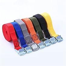 Duurzaam 1 m gesp tie-down riem lading riemen voor auto motorfiets fiets met metalen gesp touw sterke ratel riem voor baga...
