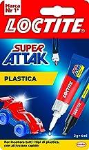 Loctite Super Attak Kunststof secondelijm, cyanacrylaat, transparant, voor alle soorten kunststof, met activator, 2 g + 4 ml