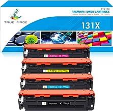 True Image - Cartucho de tóner remanufacturado para HP 131X CF210X 131A para HP Laserjet Pro 200 Color MFP M276n M276nw M276 HP Laserjet Pro M251nw M251nw M251n M251 CF210A CF211A CF212A CF213A