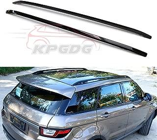 KPGDG Fit for Land Rover Range Rover Evoque 2010-2018 2 Pcs Aluminium Roof Rail Roof Rack Side Rail Bar - Black